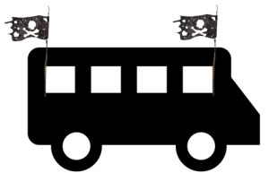 Pirate Party Bus logo
