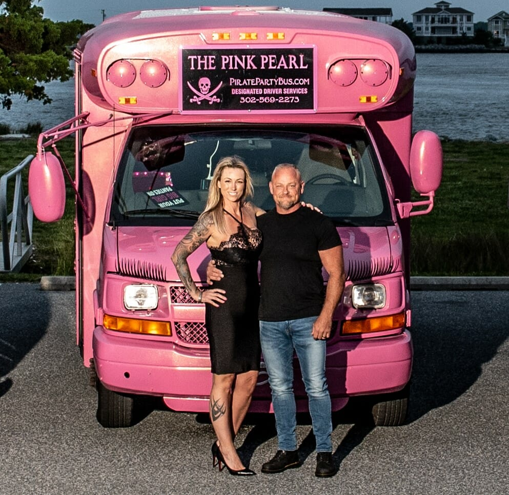 Black Pearl pirate party Bus -Limo Rental Delmarva